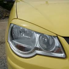 volkswagen polo headlights modified vw polo 9n3 2005 2009 eyebrows headlight brows lids eyelids abs