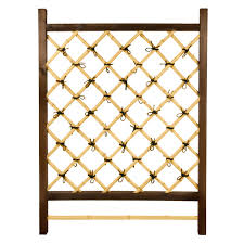 4 5 foot rectangle solid wood lexington lattice planter with