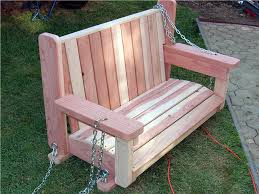 Simple Wood Bench Seat Plans by How To Build A Freestanding Arbor Swing How Tos Diy