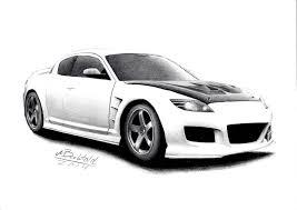 nissan 350z drawing mazda rx 8 jdm tuned tuning realistic car drawing by maxbechtold