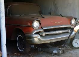 Barn Finds Cars Fuelie 1957 Chevy Bel Air Barn Find