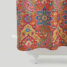 Curtains World Market Phoebe Paisley Shower Curtain Duvet Bath And Dorms Decor