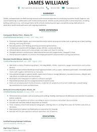 Sample Resume For A Nurse by Cna Resume Sample Resumelift Com