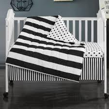 Black And White Crib Bedding For Boys Black Crib Bedding Sets You Ll Wayfair
