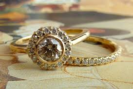 unique gold engagement rings engagement rings wedding bands on etsy yellow gold bezel set