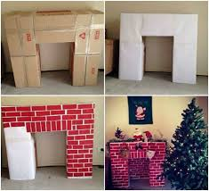 How To Make Fake Fireplace by Easy Faux Fireplace