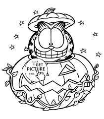 Halloween Pictures Printable Garfield Halloween Coloring Pages For Kids Printable Free