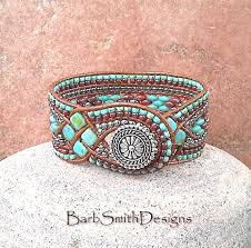 beading leather bracelet images Knotted and beaded leather bracelets by barbsmithdesigns the jpg