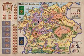 Holy Roman Empire Map Gmt Games Medieval Conspiracy