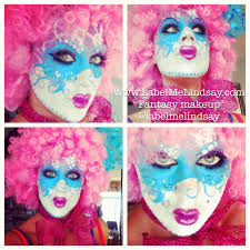Halloween Makeup Clown Faces by Clown Makeup Face Painting Hunger Games Katniss Pink Clown