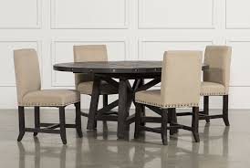 round dining room table with leaf jaxon 5 piece round dining set w upholstered chairs living spaces