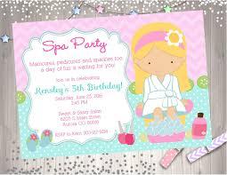 Salon Invitation Card Spa Party Invitation Invite Spa Birthday Party Invitation