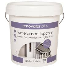 renovator plus interior exterior semi gloss paint perfect white