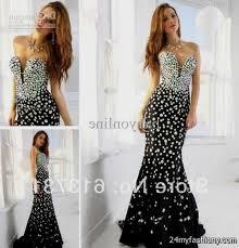 All Black Prom Dress Black Mermaid Prom Dresses 2016 2017 B2b Fashion