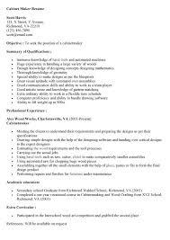 Resume Cover Letter Creator by Download Cabinet Maker Cover Letter Haadyaooverbayresort Com