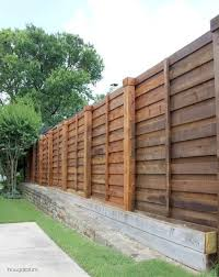 Modern Backyard Fence by The Backyard A New Horizontal Fence Hi Sugarplum Horizontal