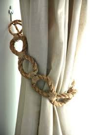 Shabby Chic Tie Backs by Cotton Twist White Curtain Tie Backs Nautical Curtain Hold
