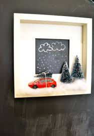 ikea u0027s ribba frames become the perfect shadow box for my christmas