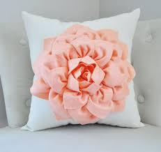 Pink Round Cushion Peach Dahlia Pillow Throw Pillow Georgia Peach Dahlia On