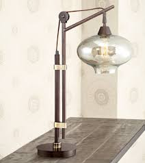 calyx cognac glass industrial bronze desk lamp amazon com