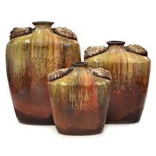 Vase Sets Rustic Pottery U0026 Vases At Black Forest Decor