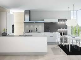 cuisine blanche et grise deco cuisine blanche grise idée de modèle de cuisine