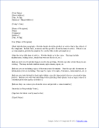 download the complaint letter template from vertex42 com storage