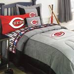 Baseball Comforter Full Reds Mlb Authentic Team Jersey Bedding Twin Size Comforter Sheet Set
