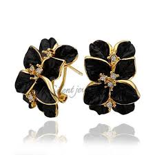 design of gold earrings ear tops free shipping unique design yellow gold exquisite 18k gold
