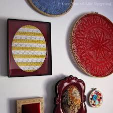Sewing Room Wall Decor Diy Easy Upcycling Upcycled Measuring Tape Sewing Room Wall