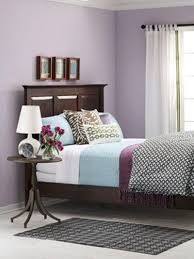 bedroom simple and neat gray and purple bedroom decoration using