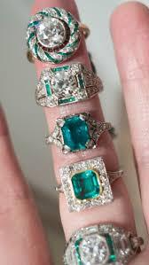 engagement rings ref art deco emerald cut diamond ring circa