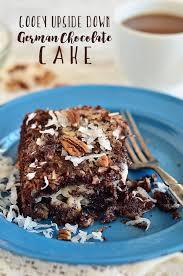 gooey upside down german chocolate cake