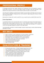 successful resume templates cv vs resume australia mechanical and maintenance fitter resume