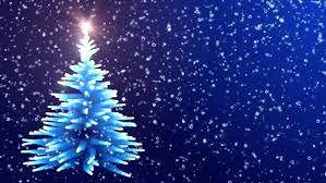 falling snowflake christmas lights christmas tree glowing blue lights with falling snowflakes stock