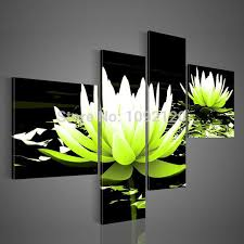 aliexpress com buy 100 hand painted oil painting 4 pieces green