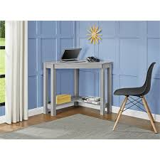 amazon com altra furniture parsons corner desk gray bar
