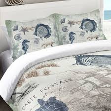 Nautical Bed Set Tropical And Nautical Bedding And Comforters