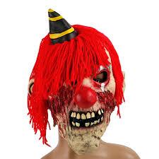 h u0026d halloween horror evil killer clown mask unisex scary red