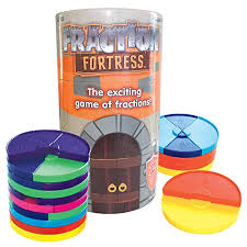 amazon com fraction fortress board games toys u0026 games