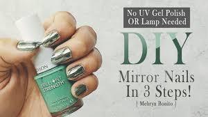 chrome mirror nails on revlon brilliant strength mehryn bonito