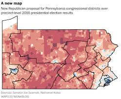 2016 Presidential Election Map Pennsylvania Republicans Have Drawn A New Congressional Map That