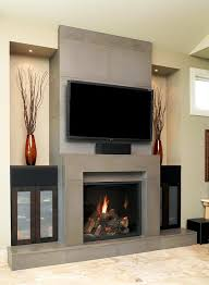 linear fireplace with tv above u2014 contemporary homescontemporary homes