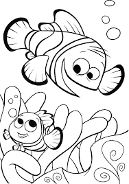20 finding nemo coloring pages kids accompany nemo