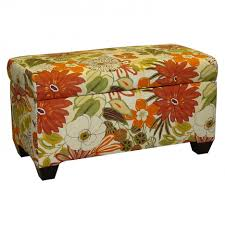 living room living room ottoman storage with multicolor flower
