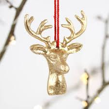 Christmas Deer Head Decorations by Christmas Deer Head Hanging Decoration By Nest