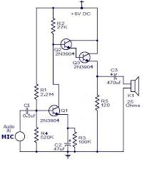 how to make a direct microphone to speaker circuit