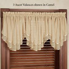 Lisette Sheer Panels by Elegance Ascot Valance 60 X 24 Living Room Curtains Drapes