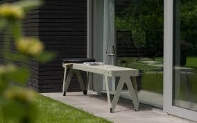 Modern Metal Garden Furniture Garden Bench Contemporary Metal Lloyd By Christoph Seyferth