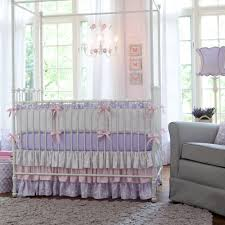 Lavender Butterfly Crib Bedding Nursery Beddings Lavender Bird Baby Bedding In Conjunction With
